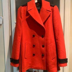 Mackage red wool short coat. Size medium